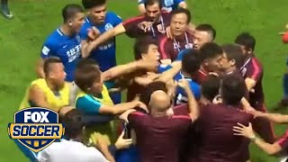 What ignited this brawl in China? | FOX SOCCER