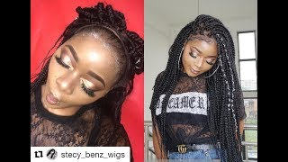 FULL LACED BOX BRAID WIG |HOW TO STYLE BOX BRAID |Braids