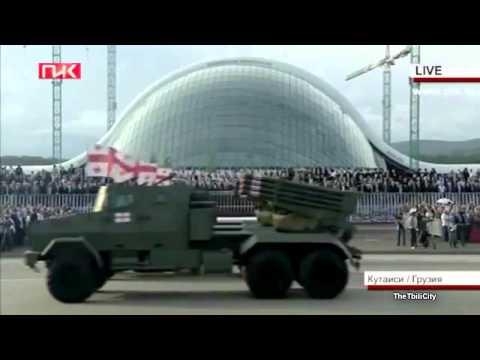 Военный парад в Кутаиси, Грузия - День независимости - 26 мая 2012