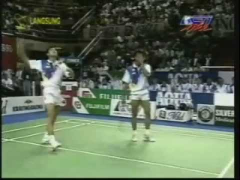 Final Thomas Cup di Hongkong - Ricky S/Rexy M VS Jon Holst/Jim Laugesen @ RCTI 26 Mei 1996 (Set 1)
