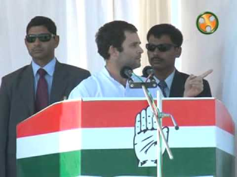 Shri Rahul Gandhi addressing an election Rally at Sanand (Gujarat)
