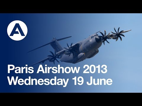 Paris Air Show 2013 - Wednesday 19 June, Airbus A380 and A400M Flying demos - uncut version