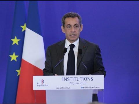 Journée de travail sur les institutions - Nicolas Sarkozy