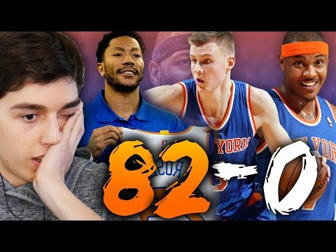 82-0 CHALLENGE - 2017 NEW YORK KNICKS WITH DERRICK ROSE! NBA 2K16 MY LEAGUE