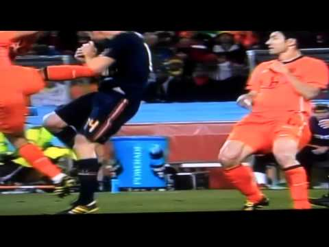 Fouls From The 2010 World Cup Final Between Spain And The Netherlands