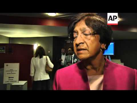 UN HUMAN RIGHTS CHIEF COMMENTS ON SYRIA