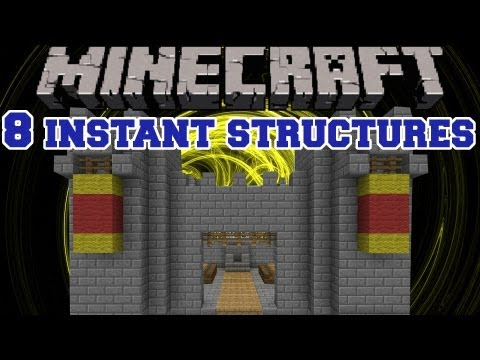 Minecraft Mod Showcase - 8 Instant Structures - Mod Review