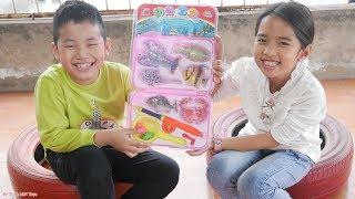 Trò Chơi Bé Câu Con Tôm Cua Cá - Đồ Chơi Câu Cá Trẻ Em - Fishing Game For Kids - Bé Minh MN Toys