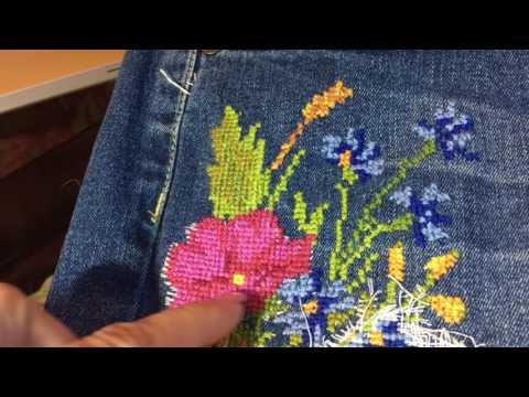Схемы для вышивки на джинсах 71