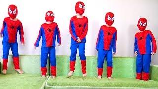 Five little monkeys jumping on the bed song for kids   Children Nursery Rhyme