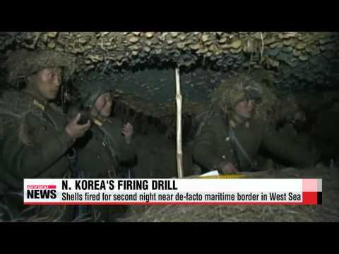 N. Korea continues drill near de-facto maritime border in West Sea   北, 오후 7시10분