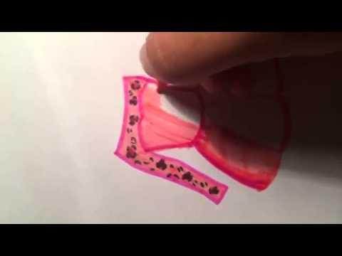 Видео как нарисовать длинное платье