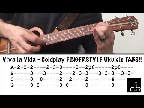 VIVA LA VIDA (Coldplay) FINGERSTYLE Ukulele TUTORIAL