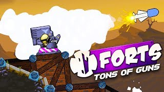 HUGE FORTS UPDATE! - EMP ROCKETS and 20mm CANNONS! - Forts Multiplayer Gameplay