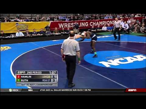2013 NCAA Wrestling National Championships D1 Edward Ruth (PSU) vs. Robert Hamlin (Lehigh)