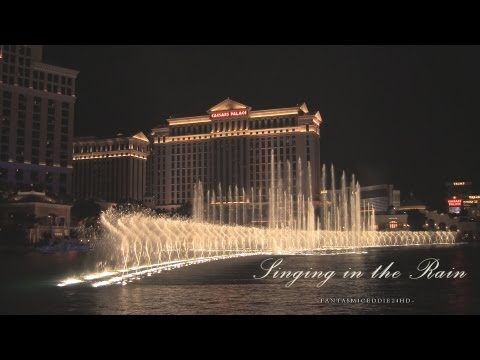 singing In The Rain | Bellagio Fountains 2013 | Full 1080p Hd video