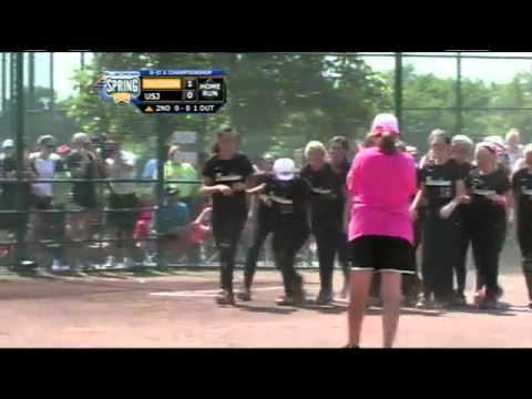 #22 Isabella Gray of Davidson Academy hits a homerun at 2012 TSSAA Softball Final