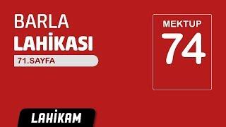Hasan Yenidere - Barla Lahikası - Sh71 - Mektup 74 - Küçük Sözler
