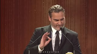 Joaquin Phoenix being chaotic for 8 minutes straight