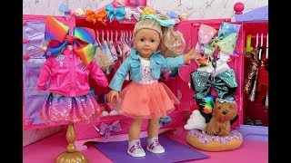 American Girl Doll JoJo Siwa Closet Tour!