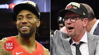 Nick Nurse talks Kawhi's free agency, Raptors' title, relationship with Drake | Golic and Wingo