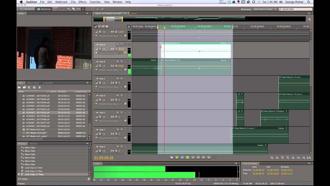 Cached Dialog editing for motion pictures