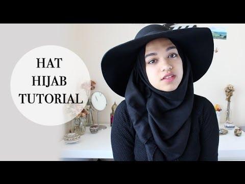 Hat Hijab Tutorial | Summer Hijab Style - YouTube saimastyleslike