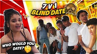 7 FRIENDS VS. 1 INSTAGRAM MODEL *BLIND DATE* (without seeing each other)