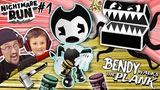 BENDY & THE INK MACHINE NIGHTMARE RUN! Monster Treasure Chest: Episode 1 (FGTEEV Walks the Plank)