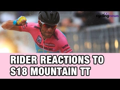 Giro 2013:  Rider reactions after the Mountain Time Trial