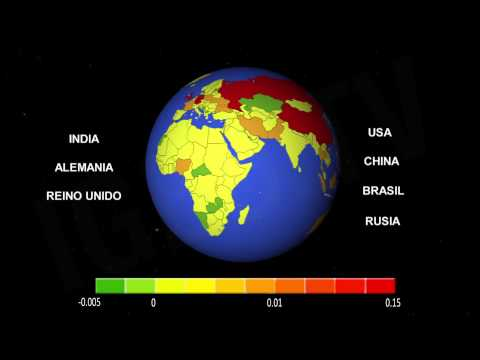 Países responsables del calentamiento global / Responsible countries for Global warming [IGEO.TV]