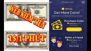 Web kiếm tiền online 1$ trong 1 phút - Xem ngay