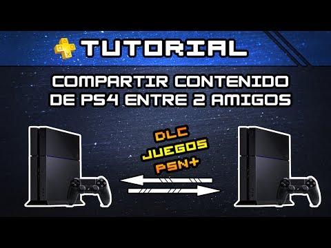 TUTORIAL PS4 - Compartir Juegos, DLC y PSN+ entre dos PS4