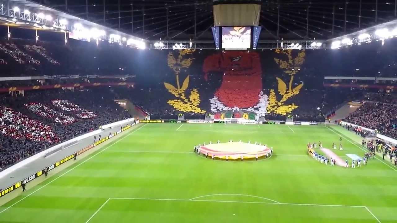 Eintracht Frankfurt FC Porto Choreographie 27 02 2014