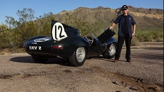 Ride in a REAL D-Type Jaguar Factory Team Race Car ? Why Not! on My Car Story with Lou Costabile