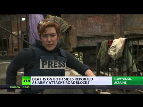 RT reporter trapped in Slavyansk amid deadly military op