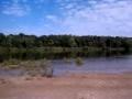 Camp site on the Wisconsin River sandbar.