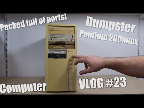 Computer VLOG23: Parting out Dumpster Pentium 200 mmx, Full of Parts!