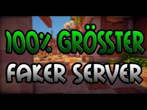 100% GRÖßTER FAKER SERVER!! - Minecraft Server Vorstellung 1.8 || Deutsch/German