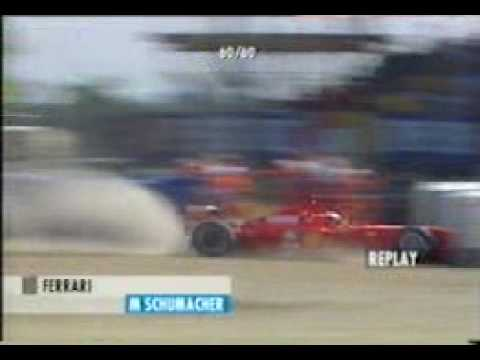 Michael Schumacher crash in Silverstone 1999 F1