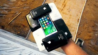 Can 10 iPhone 3GS Protect an iPhone 7 from 75 FT Drop Test? IPHONECEPTION!!!
