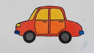 How to Drawing Color Car for Kids step by step [KIDS DRAW]