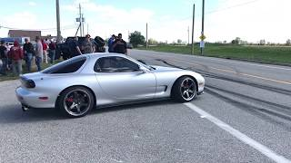 Car Show Burnouts And Accelerations
