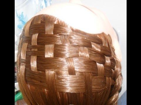 Peinado: Tapete o canasta como diadema con trenzas