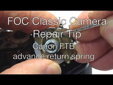 fix old camera: broken return advance return repair tip