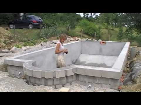 Swimming pool construction phase 2 youtube - Cinder block swimming pool construction ...
