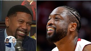 Jalen Rose reacts to Dwyane Wade's tweet about his hairline | Jalen & Jacoby