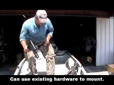 Trolling Motor Mount Bracket Anchoring System