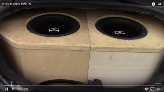 2 DC AUDIO LEVEL 5 15s ON DC 9K TRUNK SYSTEM!