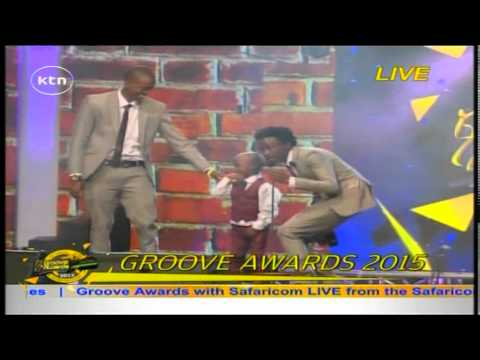 Bahati Wins The Most Downloaded song on Skiza Tune at the Groove Awards 2015